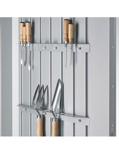 Portaherramientas de pared para casetas de jardín