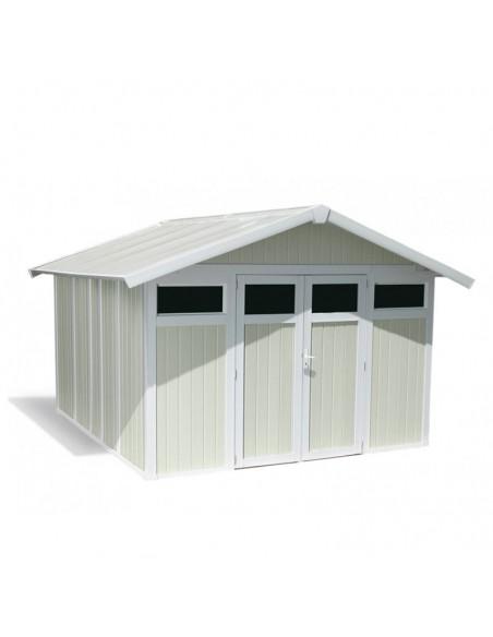 Caseta de PVC Apeninos modelo en color gris verdoso.