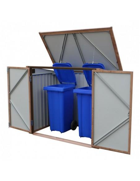 Cobertizo de metal cubre cubos