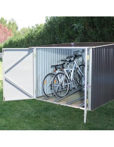 Garaje guarda bicicletas metálico