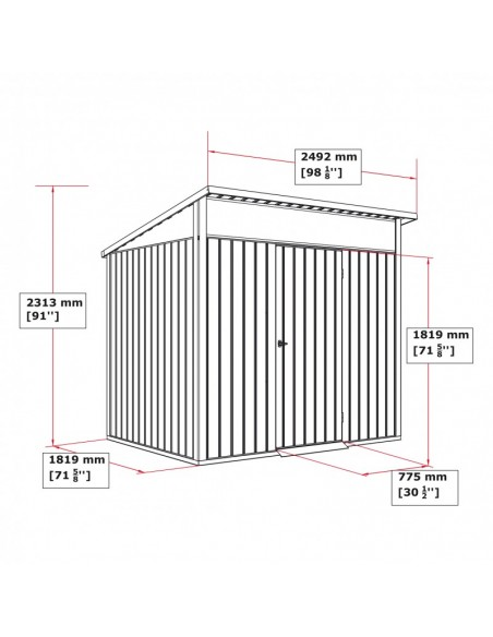 Caseta de metal Palladium