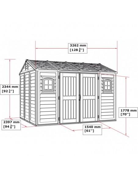 Caseta de PVC Apex 10.5 x 8