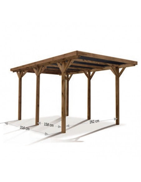 Pérgola simple/doble de madera Enzo