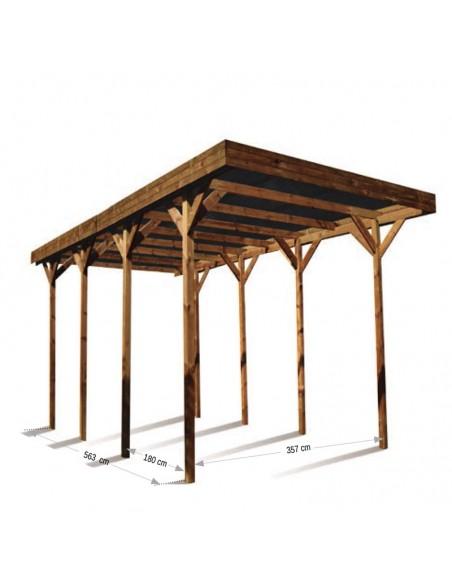 Pérgola de madera Camping