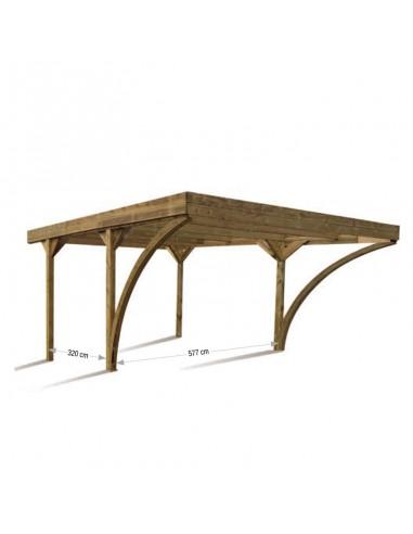 Pérgola de madera Doble Harold