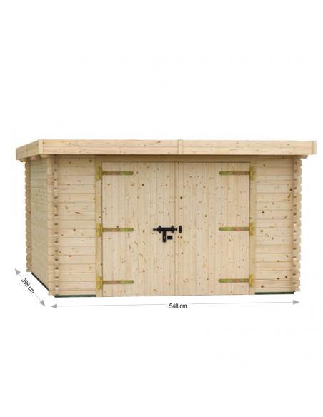 Garaje de madera Plum