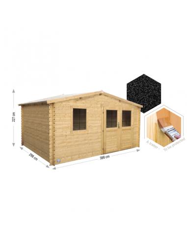 Caseta de madera Onega