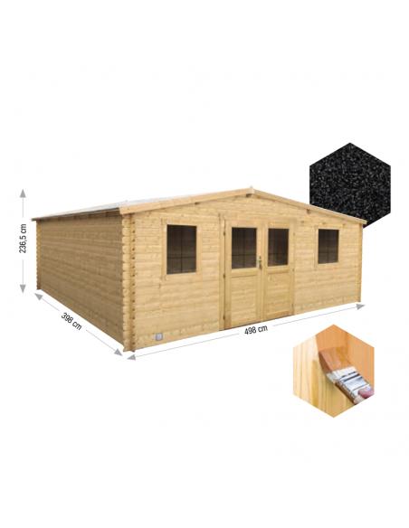 Caseta de madera Nyassa