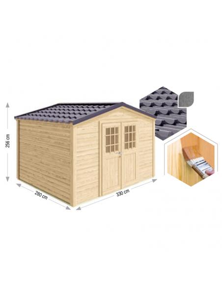 Caseta de madera Shelty de 9 metros cuadrados