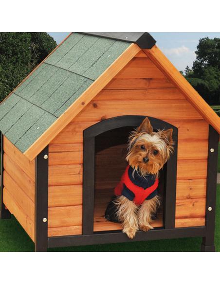 Caseta de madera para mascotas
