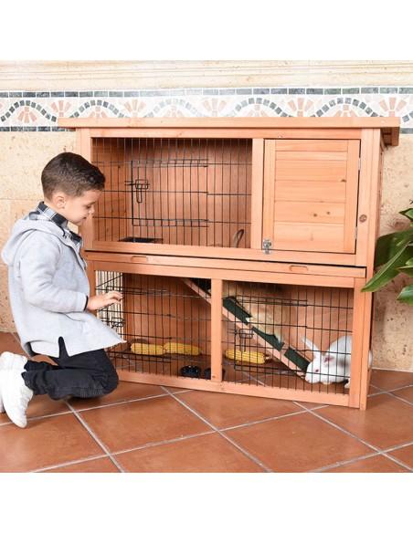 Caseta de madera para cobaya