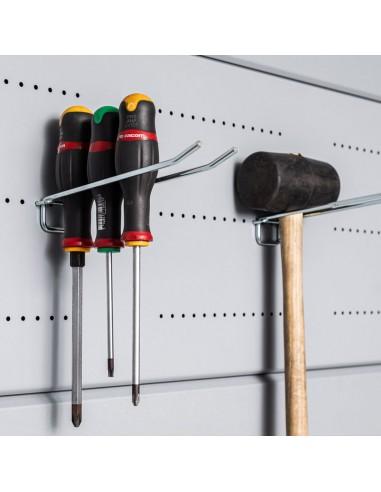 Panel perforado con ganchos casetas NH